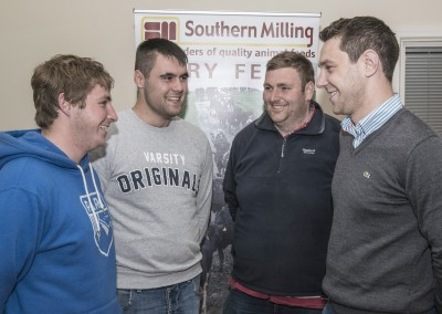 Pictured at the Southern Milling 'Profitable Dairying For The Future Conference' in Corrin Mart, Fermoy are Ivor McCormack, Dairy Herd Management Course Moorepark, PJ Hegarty, Clonakilty Agricultural College, Dave Crampton,  Dairy Herd Management Course Moorepark & Tom Ferguson, Southern Milling. Photo O'Gorman Photography. No reproduction fee.