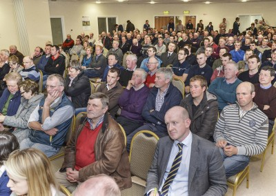 Pictured are a section of the crowd at the Southern Milling 'Profitable Dairying For The Future Conference' in Corrin Mart, Fermoy. Photo O'Gorman Photography. No reproduction fee.